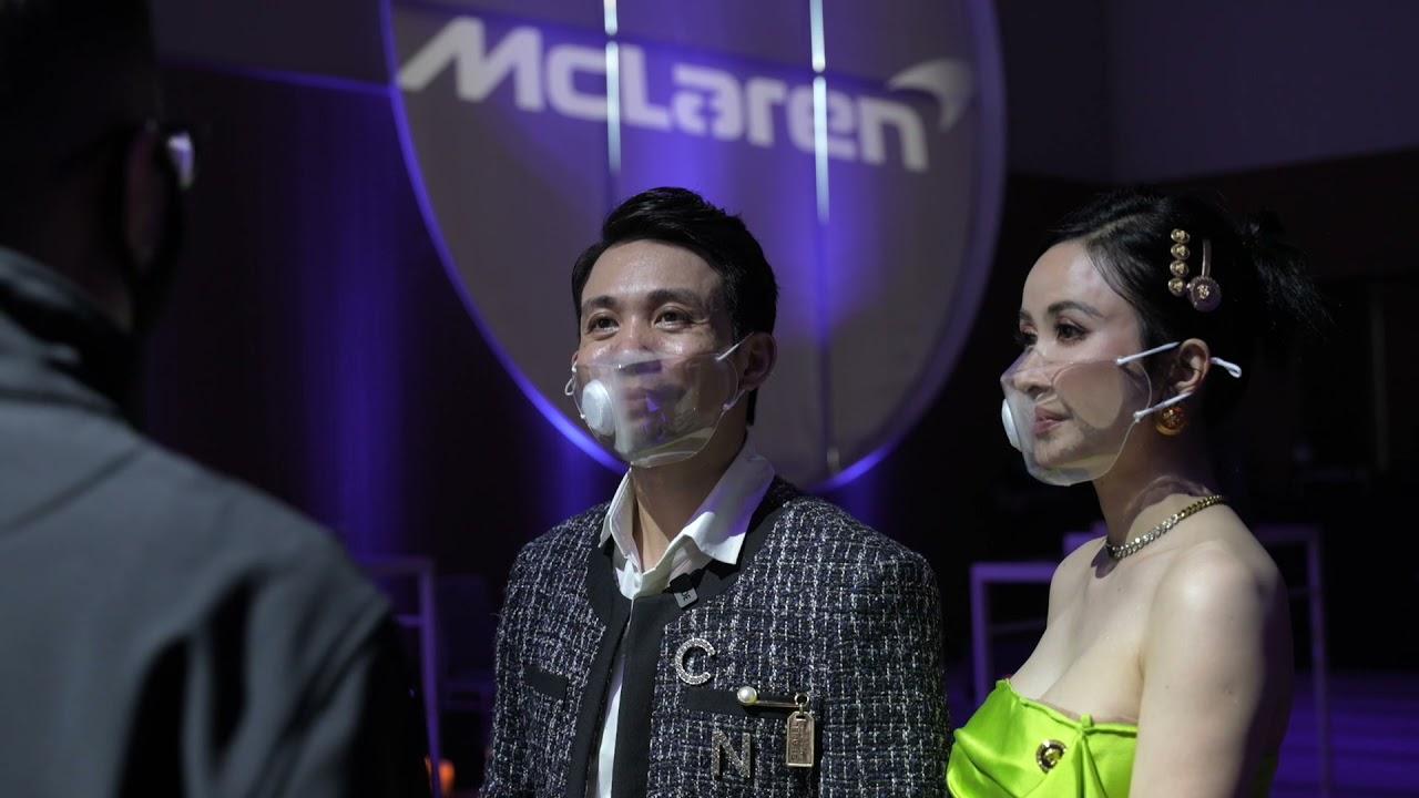 Vợ chồng Minh Nhựa & Rapper Wowy tại buổi gặp riêng siêu phẩm McLaren Elva