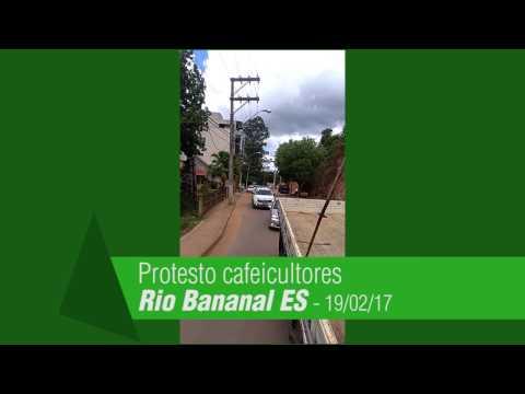 Manifestação contra a importação de café toma as ruas de Rio Bananal