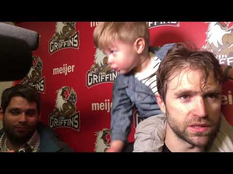 Toddler son of Griffins captain Matthew Ford wins postgame interview