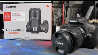 UNBOXING AND REVIEW CANNON EOS 2000D