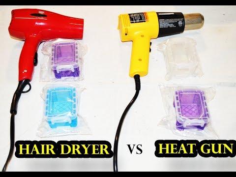 Hair Dryer vs Heat Gun