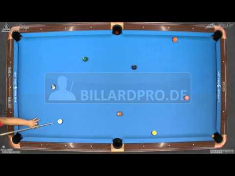 Stuttgart Open 2014, No. 19, 1/4 Final Mario He vs. Geronimo Weißenberger, 10-Ball, Pool-Billard