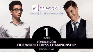 1. Partie - FIDE Schachweltmeisterschaft 2018 - Caruana-Carlsen