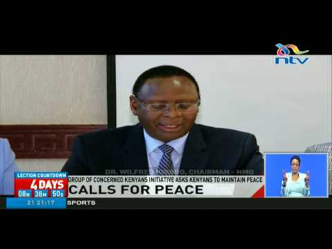 Group of Concerned Kenyans Initiative calls for peace during elections