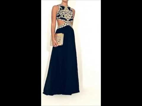 2a178e614749a Forever Unique AW13 Collection - Laila - Black and gold dress - YouTube
