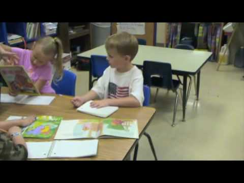 Student thinking in pictures at reading time