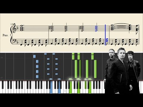 Muse - Uprising - Piano Tutorial + Sheets