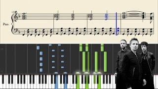 Muse - Uprising - Piano Tutorial + Sheets