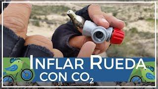 Cómo inflar o hinchar una rueda de bicicleta en segundos sin bomba con CO2