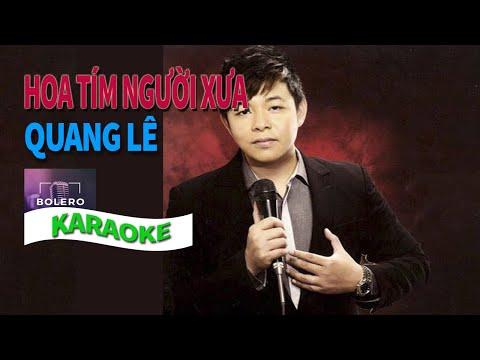 Hoa Tím Người Xưa Quang Lê Karaoke [Beat chuẩn]