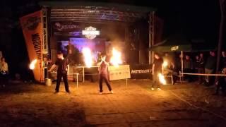Pokaz Fire Show na Zlocie Road to Hel(l) 2015
