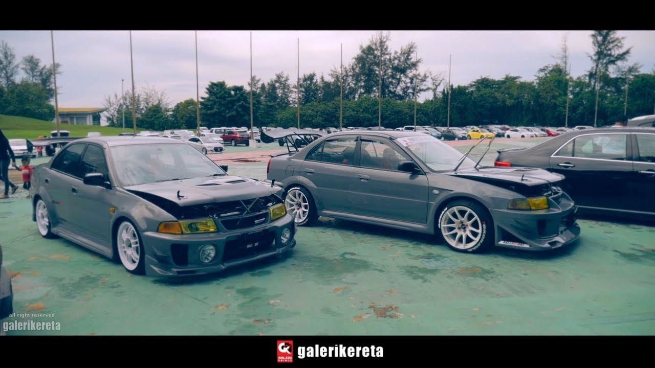 Twin Grey Lancer Evo 5 Modified Borneo Kustom Show 2018 Youtube