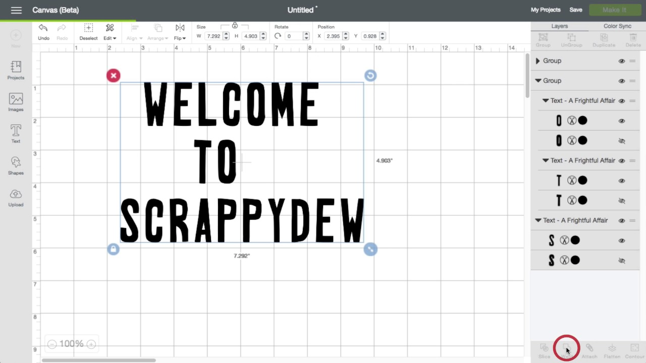 Cricut Design Space 3: Scrambled Letters/Design Help