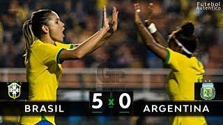 SELEÇÃO DESTRUIU | Brasil 5 x 0 Argentina - Melhores Momentos (HD) - Amistoso Feminino 29/08/2019