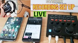 Live Set Up For Recording in V8 Soundcard to Smartphone and Computer