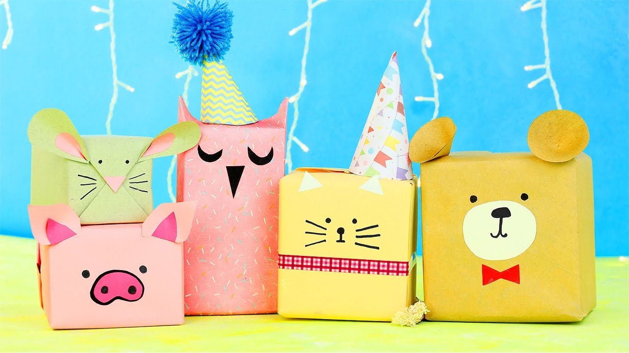6 Diy Animal Gift Wrap Ideas Youtube