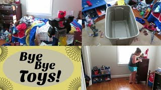 Cleaning my 8yr Olds Room! |BYE BYE TOYS