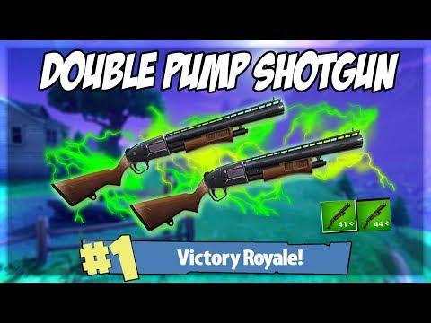 DOUBLE PUMP SHOTGUN IS SO GOOD!! (Fortnite Battle Royale!)