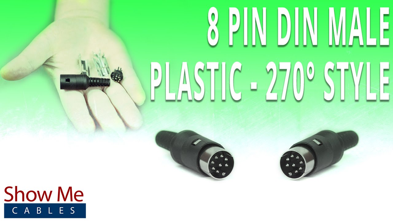 How To Install The 8 Pin Din Male Connector 270 Degree Style Mini Wiring Diagram Plastic Youtube