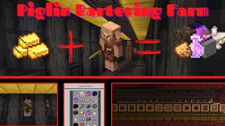 Piglin Bartering Farm For Bedrock || Over 11,000 items per hour!
