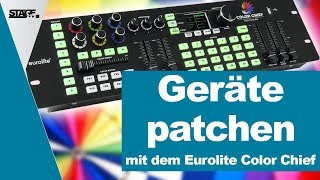 Wie patche ich Geräte mit dem Eurolite Color Chief? | stage.college