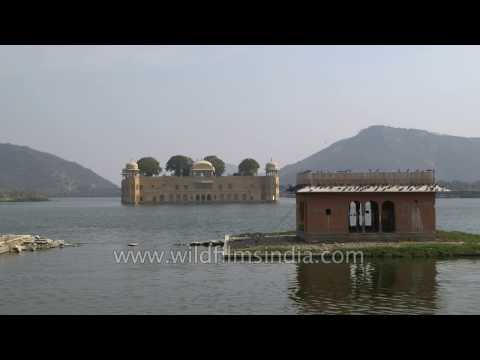 Jaipur's Jal Mahal Palace in the middle of Man Sagar lake