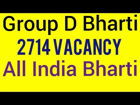 Latest Govt Job-Group D Bharti   2714 Vacancy   All India Govt Job   Sarkari Naukri 2018