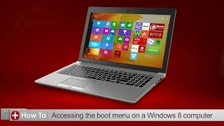 Toshiba How-To: Accessing the boot menu in Windows 8