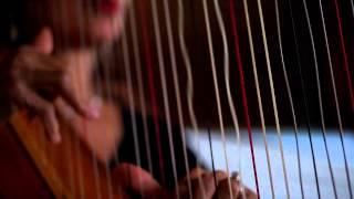 Vibrating harp strings