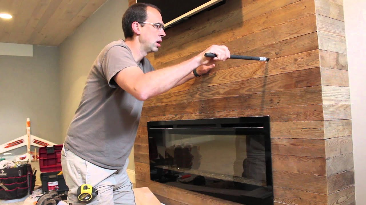 Installing a Wood Fireplace Mantel - YouTube