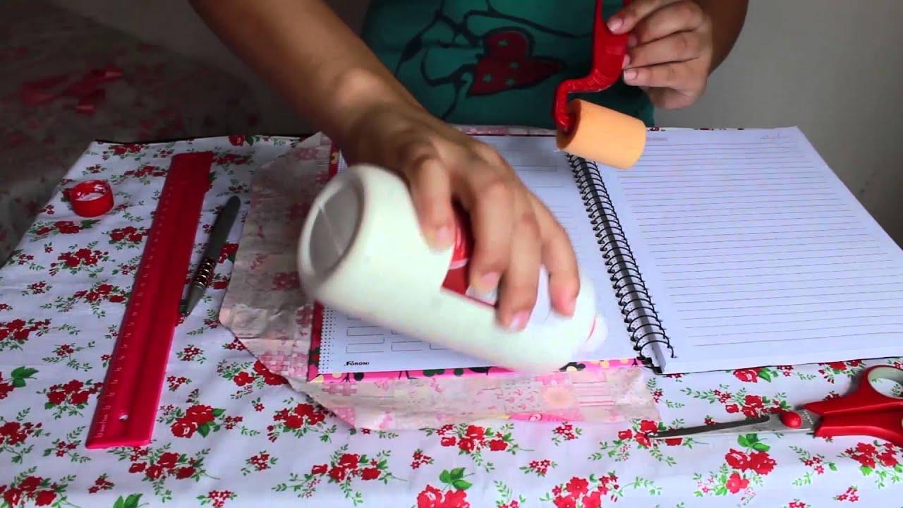 Volta às Aulas Diy Como Customizar Seu Caderno Com Tecido Youtube