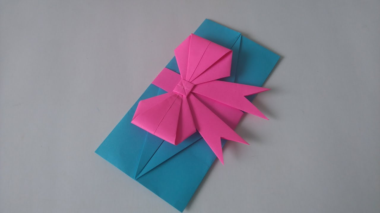 Origami Toys - How to make an easy origami envelop - gift ... - photo#7