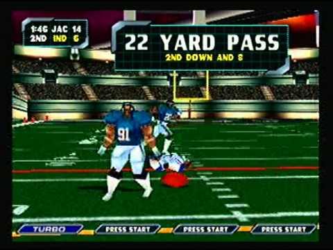 NFL Blitz 2000 - Jacksonville Jaguars vs Indinanpolis Colts (1st Half)