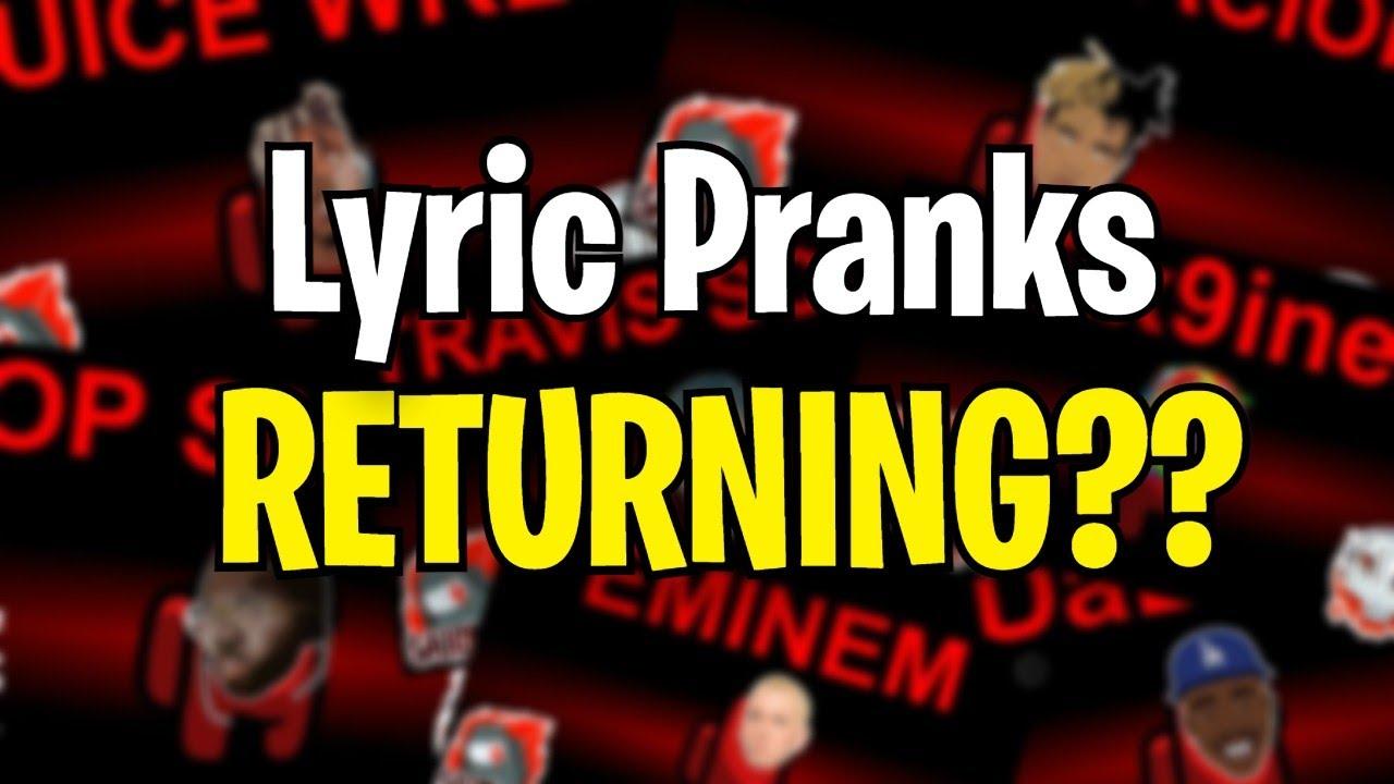 The RETURN of Among Us Lyric Pranks...??