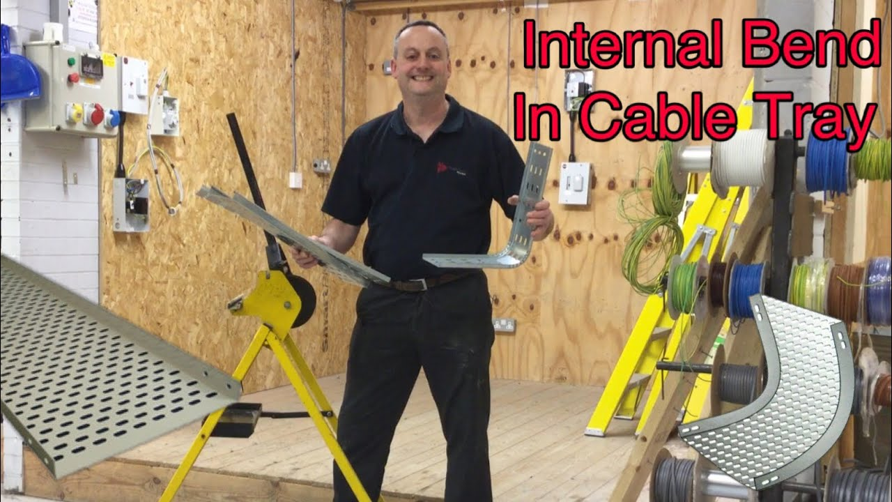 How To Make An Internal Bend In Steel Cable Tray Using A
