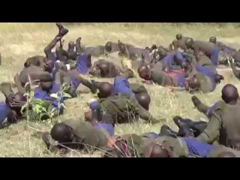 Training sessions as an armed forces in Kenya