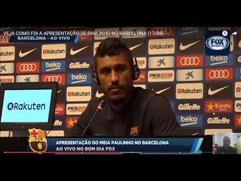 Corinthians é citado na apresentação de Paulinho no Barcelona