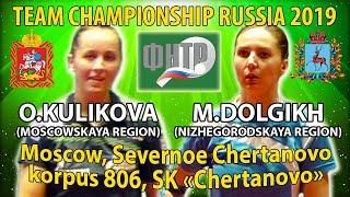 4-ая ракетка против 17-ой Чемпионат России 2019 Куликова - Долгих