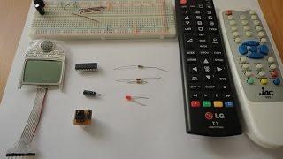 طريقة مبسطة لاستخدام أي ريموت كنترول مع المتحكم PIC 16F628a