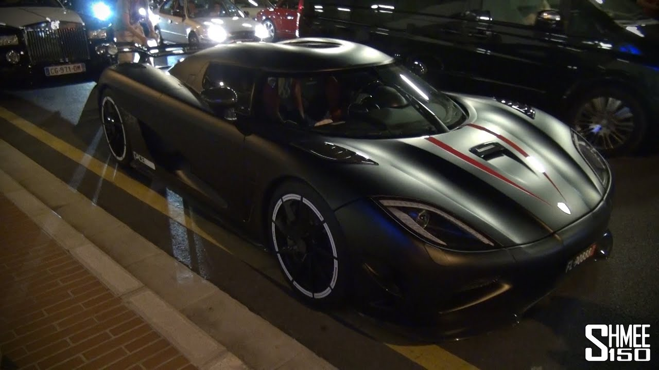 Matte Black Koenigsegg Agera Startup And Driving In Monaco YouTube