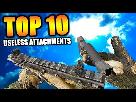 """Top 10 """"MOST USELESS ATTACHMENTS"""" in COD HISTORY   Chaos"""