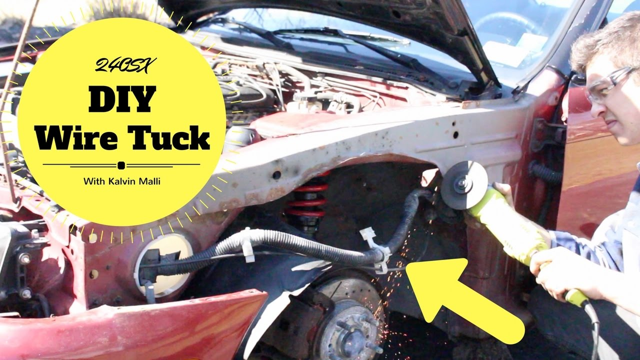 maxresdefault diy quick & easy 240sx fender wire tuck youtube how to make a wire tuck harness at crackthecode.co