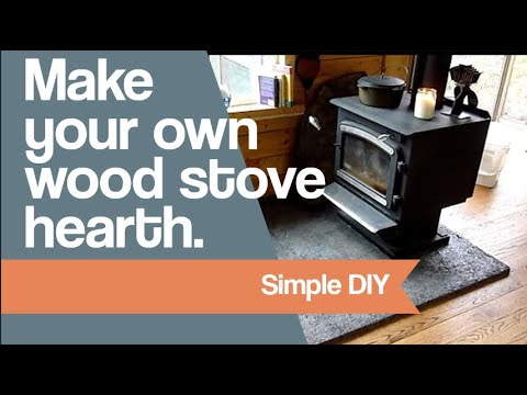 Make Your Own Wood Stove Hearth Youtube