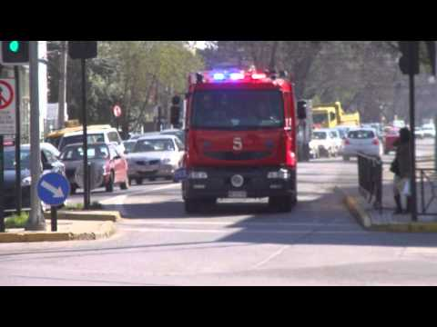 B-4 B-5 Q-6 C.B.Ñ llegando a 10-0. Fire Trucks Arriving on scene.