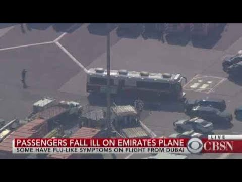 Passengers, crew fall ill on Emirates flight to NYC