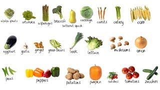 vegetables picture vocabulary review