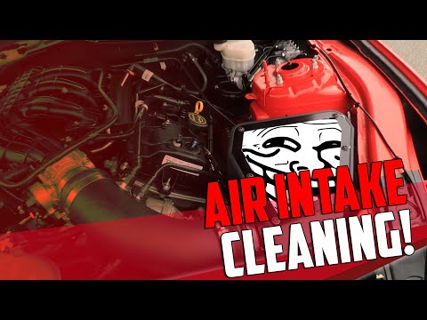 New Mustang Cold Air Intake cleaning & interior mods