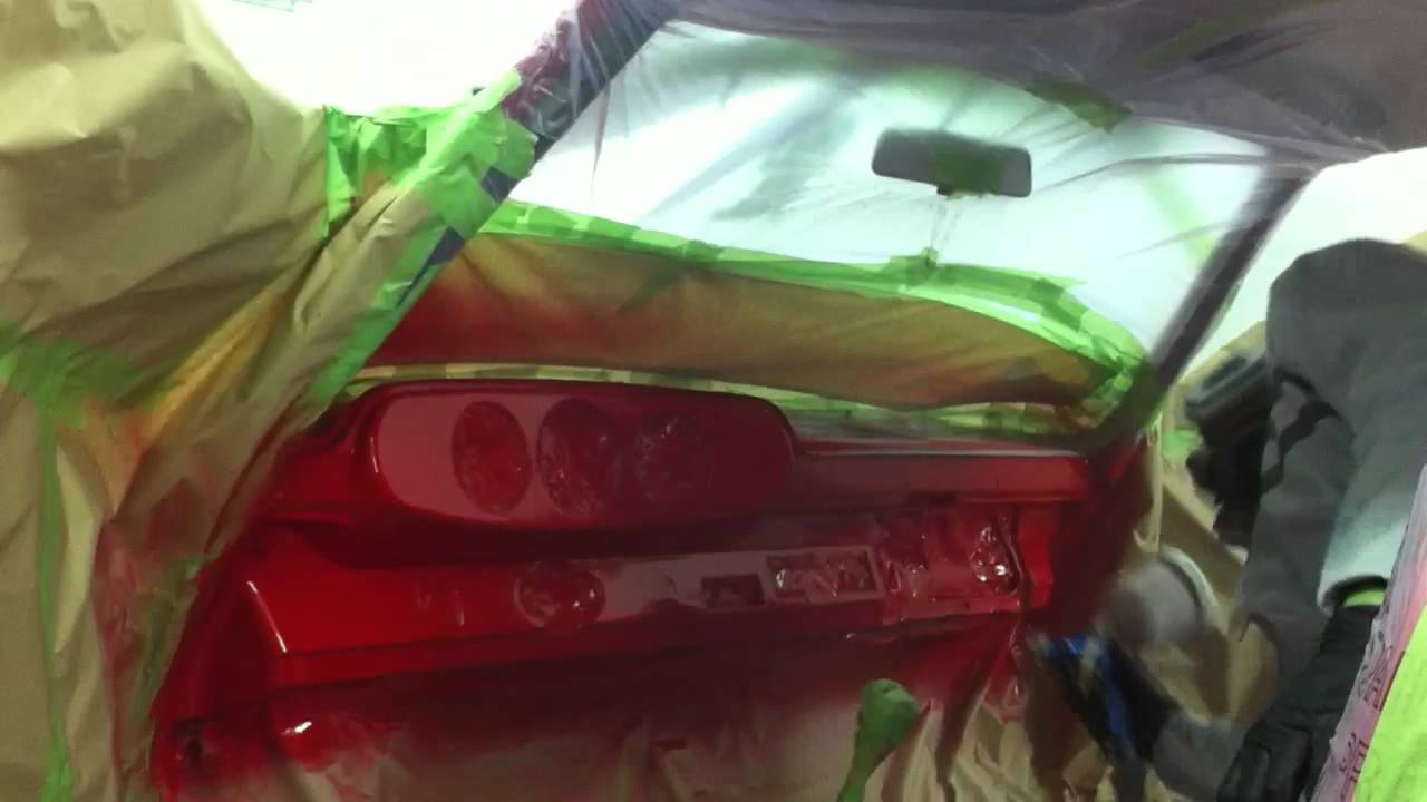 Spray painting a porsche 912 dashboard youtube for Dashboard paint spray