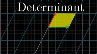 The determinant | Essence of linear algebra, chapter 5(The determinant of a linear transformation measures how much areas/volumes change during the transformation. Watch the full