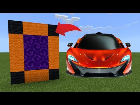 How To Make a Portal to the McLaren P1 Dimension in MCPE (Minecraft PE)